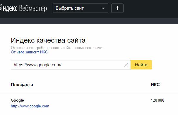 ИКС Google